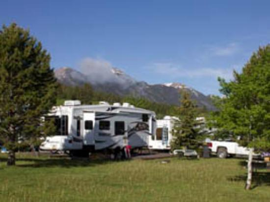 Island Park, ID: Large RV Site with Mountain Views