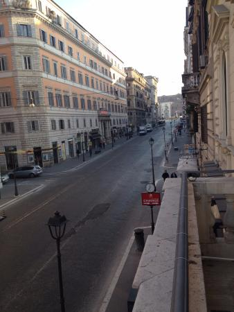 Hotel Artemide: Morning view from balcony in suite 101