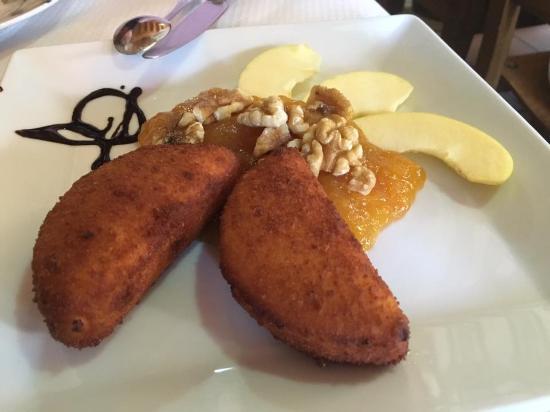 Boca de Huergano, Spanien: Queso de cabra frito