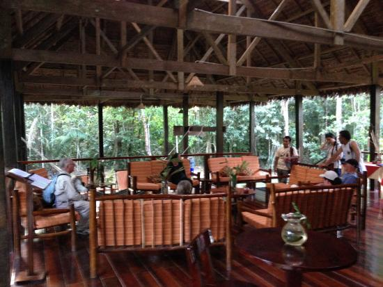 Posada Amazonas: lounge before dinner