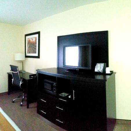 Baymont Inn & Suites Rome: Desk and Entertainment Area