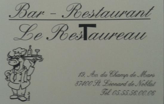 Saint-Leonard-de-Noblat, Francia: Le Restaureau