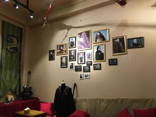 Always Cafe: back room with memorabilia