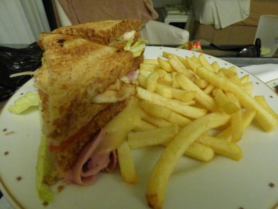 Sakura Sunset: Room Service Club Sandwich