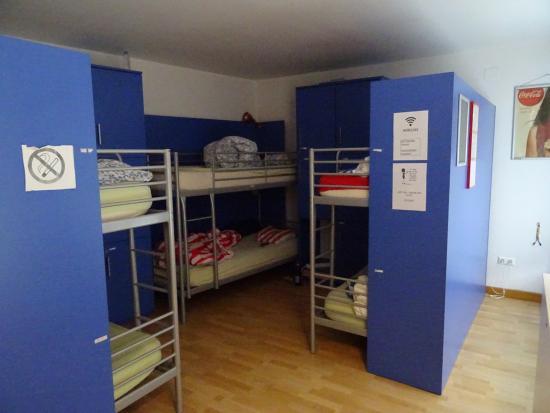 H2ostel: Betten im 6-Bett-Zimmer