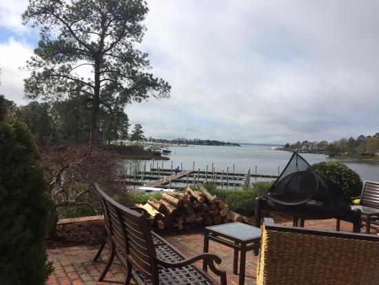 Irvington, VA: This was our view as we ate breakfast Monday morning.