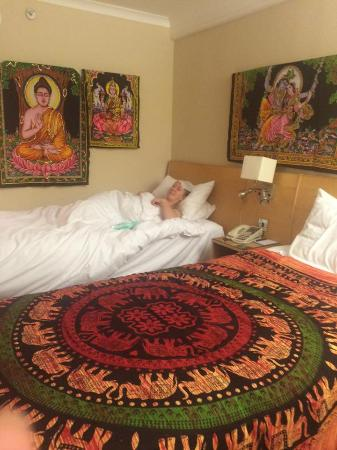 Hilton London Kensington: We did redecorate it slightly to give a more Buddha feel to the room.