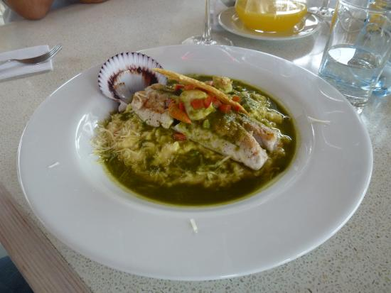 Restaurante del Hotel Viñas Queirolo (La Parra): Buen pescado sazonado al estilo Viñas Queirolo