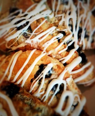 Harrodsburg, KY: Blueberry scones made by our pastry chef.
