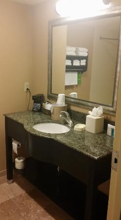 Hampton Inn & Suites Austin Lakeway : vanity area