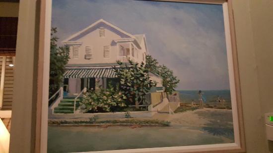 Backyard Restaurant Key West restaurant wall oil painting - picture of louie's backyard, key west