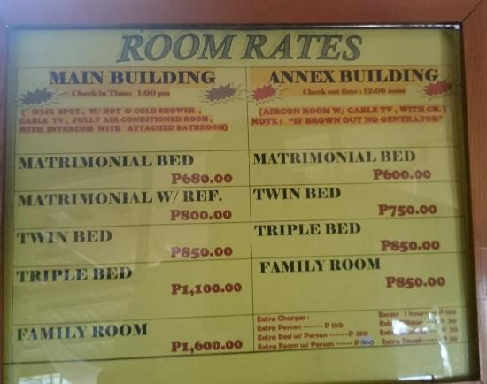 Jazzy James Country Hotel Room Rates
