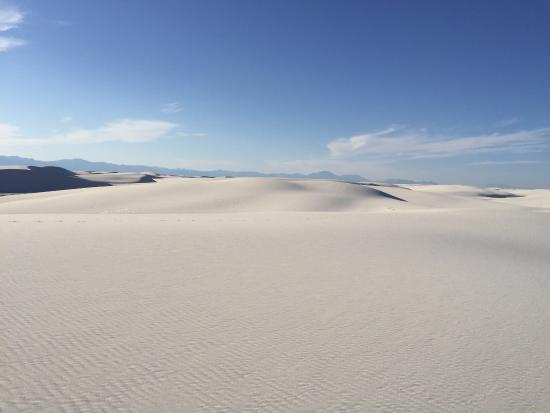 Alamogordo, Nouveau-Mexique : Alkali Flats trail at White Sands
