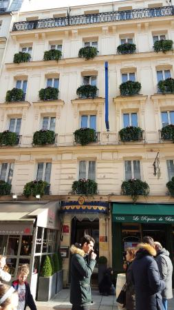 external view of hotel rooms facing rue cler were hard to come by rh tripadvisor com sg