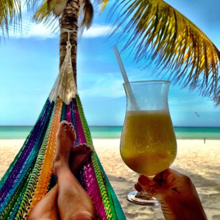 Holbox Hotel Mawimbi: Amazing frozen treats enjoyed in Mawimbi's hammocks