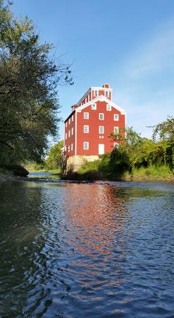 Bellevue, Iowa: Beautiful Bellevue is right! This lovely shot was taken from a kayaker who paddled into Mill Cre