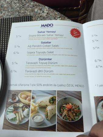 Mado Turkish Restaurant Menu