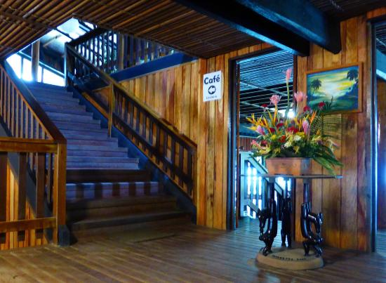 Foyer Stairs Reviews : Stairs from foyer to cafe picture of wanigili alotau