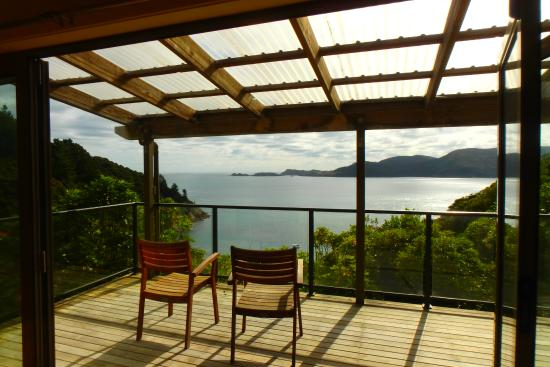 Ngaio Bay Ecostay B&B: This is the view from the cottage. Great way to both end and begin your day.