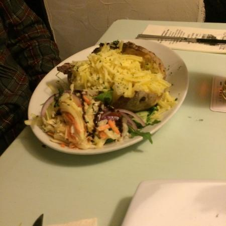 The Willow House : A huge jacket potato.