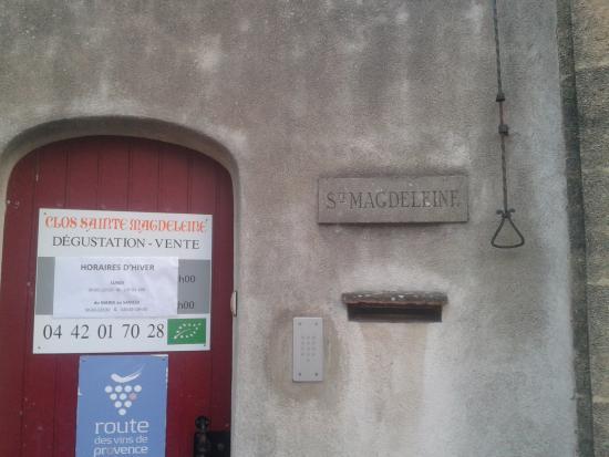 Clos Sainte Magdeleine : Вход