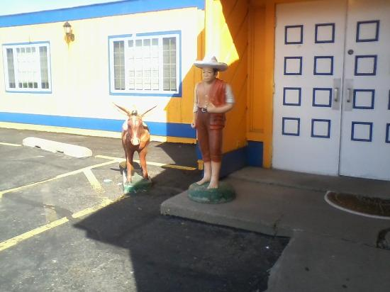 Melrose, MN: Pedro and his burro welcome you to El Portal.