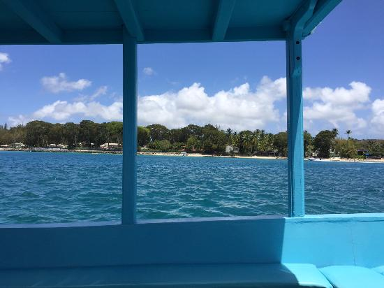 Holetown, Barbados: A beautiful view from the boat