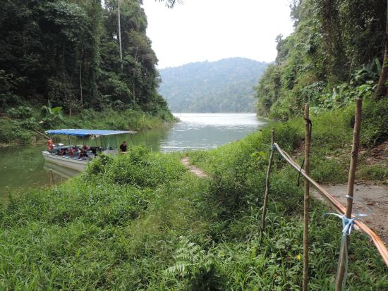 Gerik, Malaysia: bateau pour transport