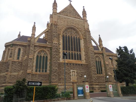 St. Mary's Cathedral: side view of St Mary's Cathedral Perth