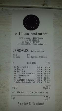 picture of philipps restaurant hamburg tripadvisor. Black Bedroom Furniture Sets. Home Design Ideas