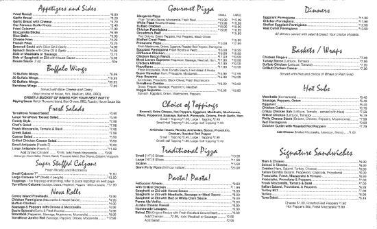 Terra Nova Four Seasons: Our menu