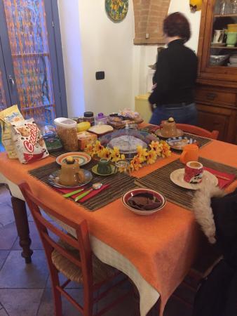 La Casina di Cioccolata: Tavola imbandita per la colazione