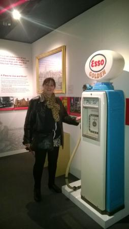 Melton Carnegie Museum: A blast from the past self sevice petrol pump