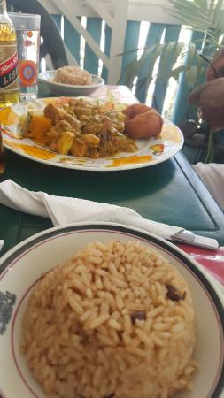 Sips & Bites : Curry chicken & Rice and Peas