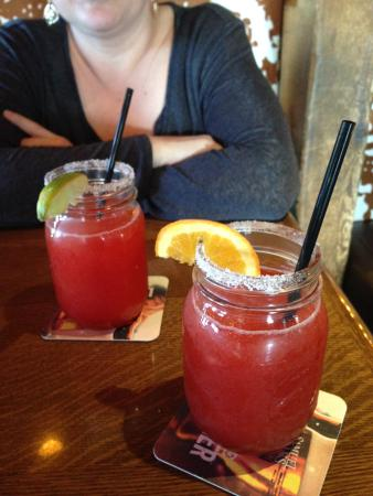 Crazy Horse Stonegrill Steakhouse & Saloon : Strawberry & raspberry margaritas