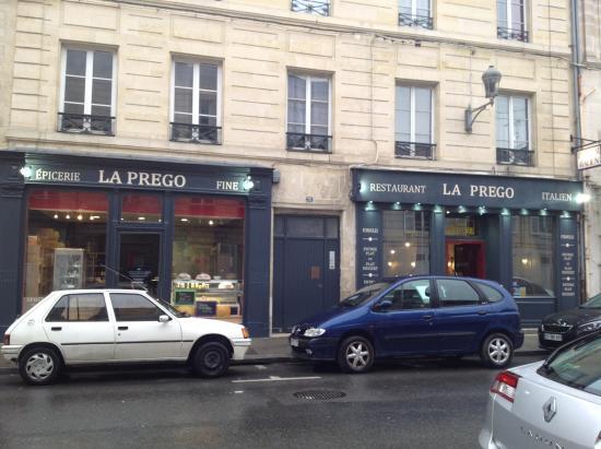 La Prego Restaurant Et Epicerie Italienne : façade
