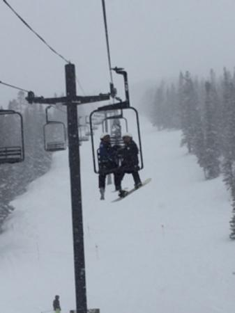 Monarch, CO: snowed all day!