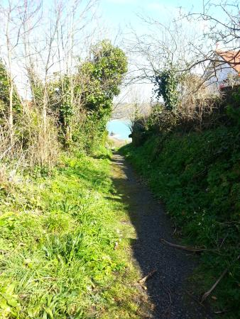 Saints Bay Hotel: Exit the hotels car park, walk across the lane & down this path....