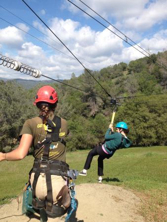 Yosemite Ziplines and Adventure Ranch: Ziplining!