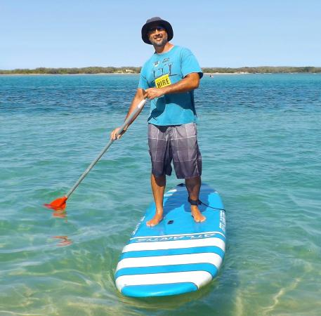 Golden Beach Hire: Free SUP (Stand-Up Paddleboard) Instruction with your hire