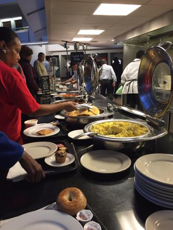 eggs at breakfast bar and pancakes daily picture of embassy rh tripadvisor com