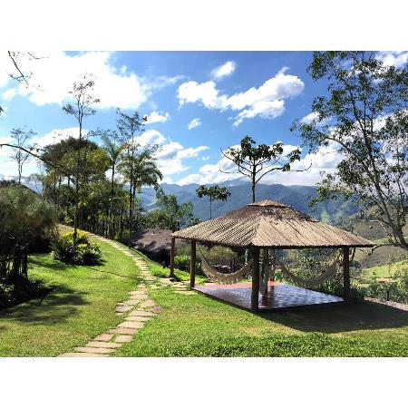 Vista da rede na cabana prima dona - Picture of Cabanas Chapeu De ... 861993648c5