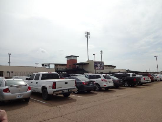 Trustmark Park: View from the parking lot