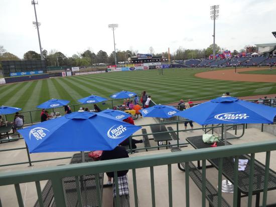 Trustmark Park: some great places to sit and watch the game
