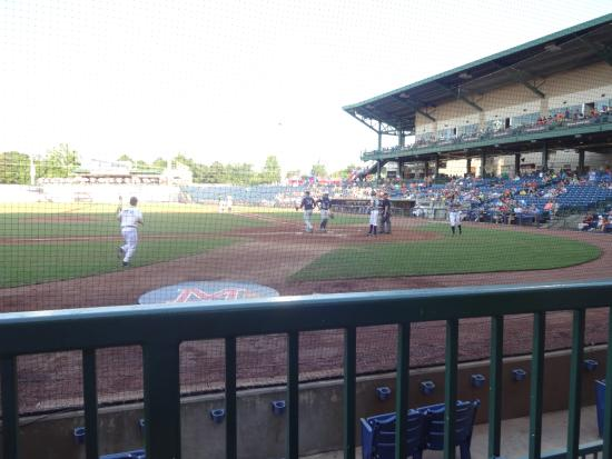 Trustmark Park: good view from near the home dugout