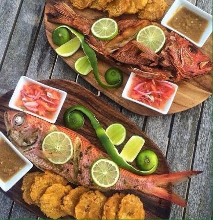 Api fried fresh red snapper fotografa de api beach punta cana api beach api fried fresh red snapper forumfinder Choice Image