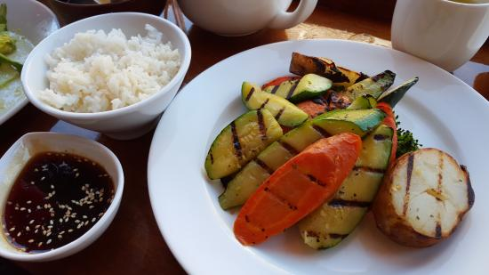 Joss Cafe & Sushi Bar : Grilled vegetables with white rice and teriyaki sauce