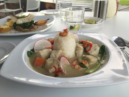 The Boughshed Restaurant: Mixed Seafood Green Curry