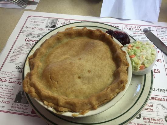 Kawkawlin, MI: Pot pie, but only on Wednesday