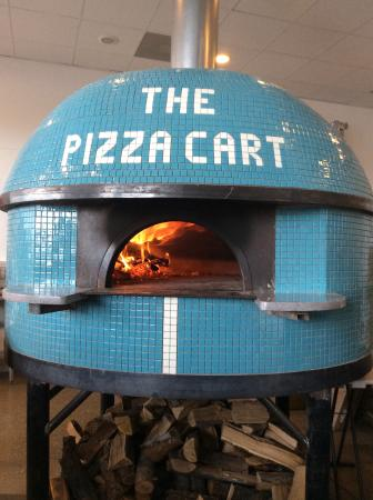 The Pizza Cart: The oven, built by the owner